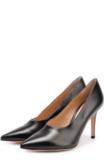 Кожаные туфли с неглубоким вырезом на шпильке Gianvito Rossi