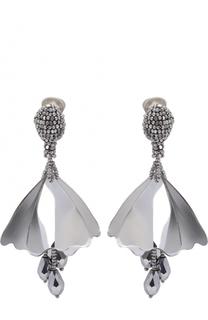 Серьги-клипсы с кристаллами Oscar de la Renta