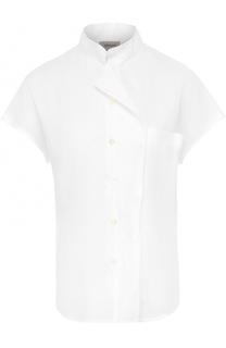 Льняная блуза с укороченными рукавами Armani Collezioni