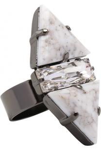Кольцо с камнями и кристаллом Anton Heunis