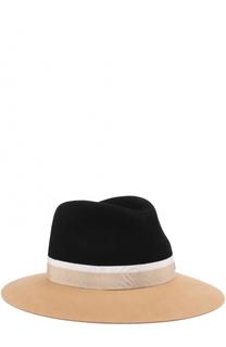 Фетровая шляпа Henrietta с лентой Maison Michel