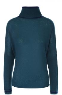 Кашемировый свитер свободного кроя с высоким воротником Escada Sport
