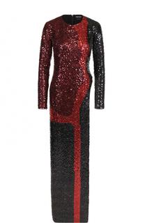 Платье-макси с высоким разрезом и пайетками Tom Ford
