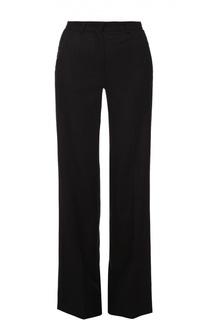 Шерстяные брюки прямого кроя со стрелками Moncler