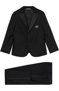 Смокинг из смеси шерсти и шелка Dolce & Gabbana