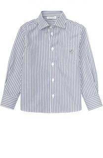 Рубашка из хлопка с рисунком в полоску Dolce & Gabbana