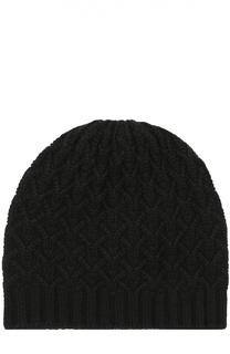 Кашемировая шапка с фактурным узором Johnstons Of Elgin