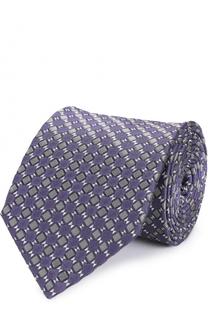 Шелковый галстук с узором Lanvin