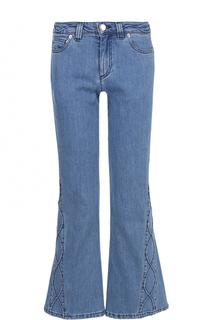 Укороченные расклешенные джинсы с фактурной отделкой See by Chloé