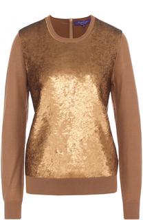 Кашемировый пуловер с пайетками Ralph Lauren