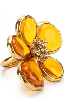 Кольцо с камнями и стразами Oscar de la Renta