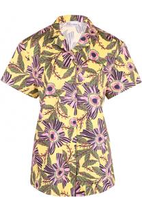 Блуза с укороченным рукавом и принтом REDVALENTINO