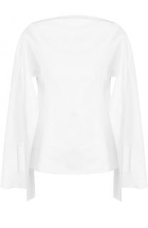 Блуза с вырезом-лодочка с разрезами на рукавах Christopher Esber