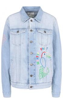 Джинсовая куртка с контрастной отделкой Mira Mikati