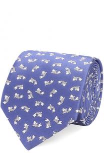 Шелковый галстук с принтом Lanvin