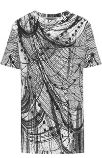 Удлиненная футболка прямого кроя с принтом Alexander McQueen