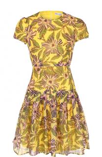 Приталенное мини-платье с принтом REDVALENTINO