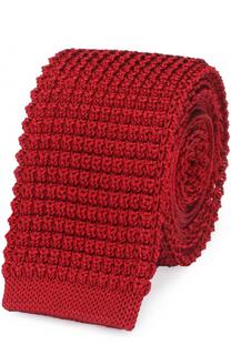 Шелковый вязаный галстук Lanvin