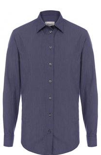 Хлопковая рубашка с воротником кент Armani Collezioni