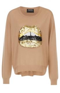 Пуловер с удлиненной спинкой и вышивкой пайетками Markus Lupfer