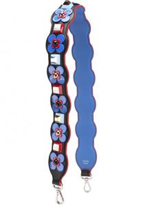 Кожаный ремень для сумки с декором Flowerland Fendi