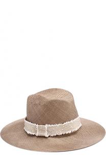 Соломенная шляпа в повязкой Inverni
