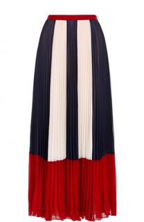 Плиссированная юбка-макси с принтом REDVALENTINO