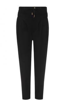Шерстяные брюки прямого кроя с заниженной линией шага Saint Laurent