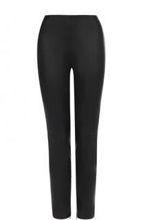Укороченные кожаные брюки-скинни Ralph Lauren