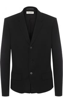 Шерстяной однобортный пиджак Saint Laurent
