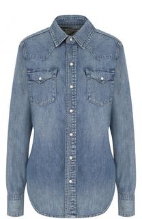 Приталенная джинсовая блуза с потертостями Polo Ralph Lauren