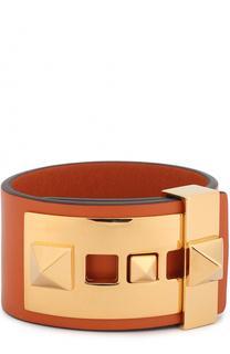 Кожаный браслет B-Rockstud Valentino