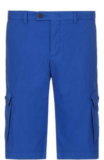 Хлопковые шорты с накладными карманами Z Zegna