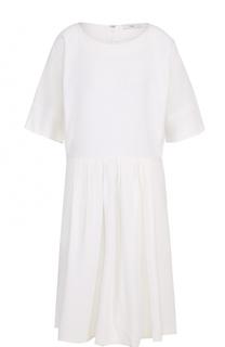 Приталенное платье-миди с круглым вырезом Tome