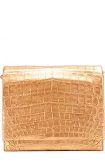 Сумка из металлизированной кожи каймана Nancy Gonzalez