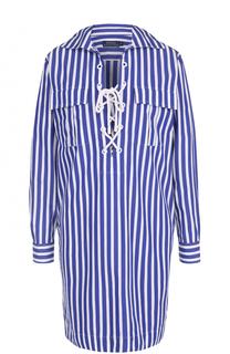 Платье в контрастную полоску со шнуровкой Polo Ralph Lauren