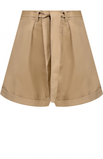 Мини-шорты с защипами и поясом Polo Ralph Lauren