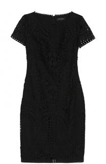 Кружевное платье-миди с круглым вырезом St. John