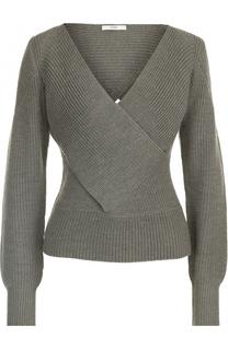 Пуловер фактурной вязки с V-образным вырезом Tome