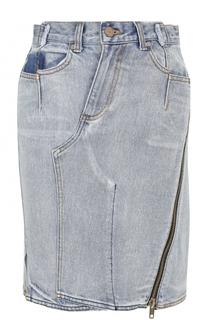 Джинсовая мини-юбка с потертостями 3.1 Phillip Lim