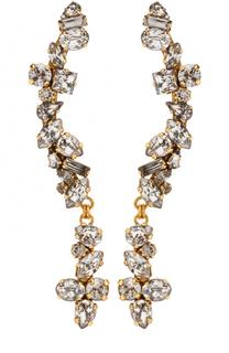Серьги с кристаллами Swarovski Erickson Beamon