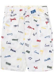 Хлопковые шорты с вышивками Stella McCartney
