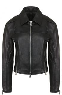 Кожаная куртка на молнии с отложным воротником 3.1 Phillip Lim