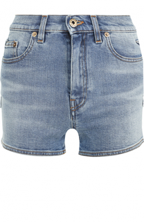 Джинсовые мини-шорты с потертостями Roberto Cavalli