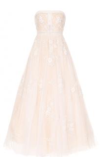 Пышное платье-бюстье с вышивкой Basix Black Label