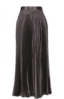 Шелковая плиссированная юбка Christopher Kane