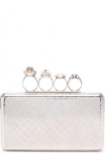 Клатч Knuckle с кристаллами Alexander McQueen