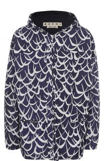 Куртка на молнии с принтом Flutter Marni