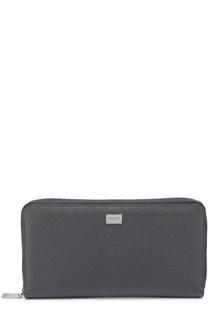 Кожаное портмоне на молнии с отделением для кредитных карт Dolce & Gabbana