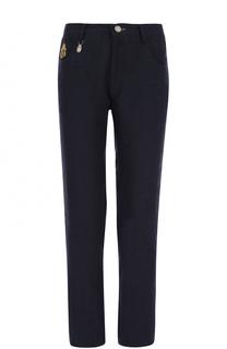 Льняные брюки прямого кроя с контрастной отделкой Billionaire